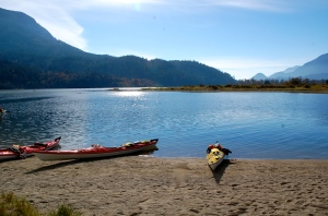 Lunch stop along Harrison River