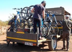 Trailhead for Olifants Camp mountain biking trips