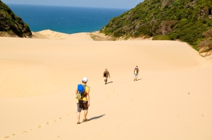 Monster sand dunes along Kosi Bay Trail hike