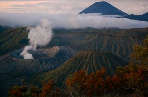 Mount Bromo in Java Indonesia just before sunrise—Caroline Helbig