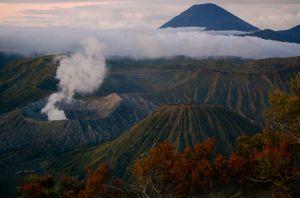 Mount Bromo in Java Indonesia just before sunrise—Caroline Helbig