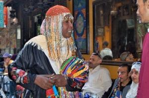 Touts flogging their wares at El Fishawy