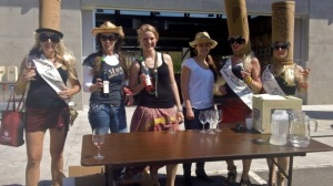"Enjoying the ""aid station"" at Church and State Winery—Caroline Helbig"