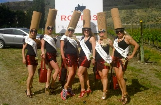 Our team: The Vancouver House Wines Road 13 winery during Half Corked Marathon—Caroline Helbig