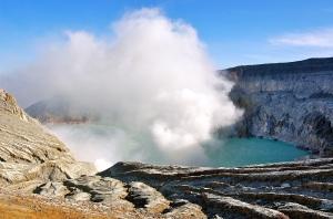 At the crater rim: Kawah Ijen—Caroline Helbig