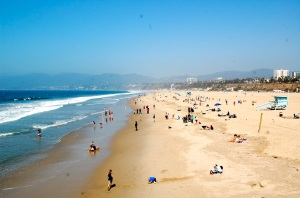 Beach at Santa Monica, California—Caroline Helbig