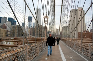 Take a walk across the Brooklyn Bridge—Caroline Helbig