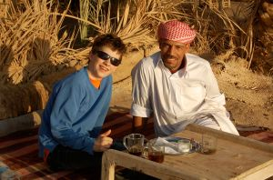 Hanging out with Achmed at Fatnas Island—Caroline Helbig