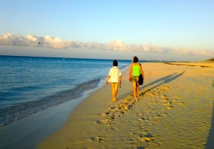 Grace Bay, the perfect beach for walking—Caroline Helbig