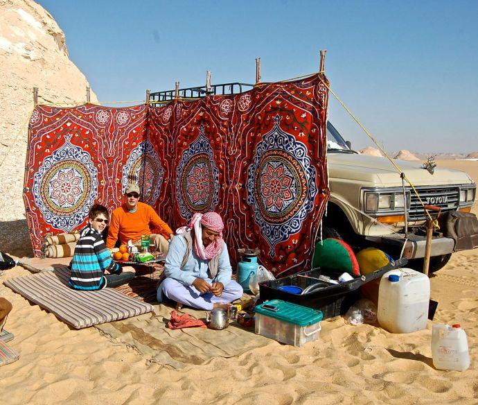Camping in White Desert