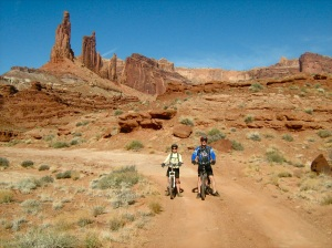Enjoying the scenery along Utah's White Rim Trail—Caroline Helbig