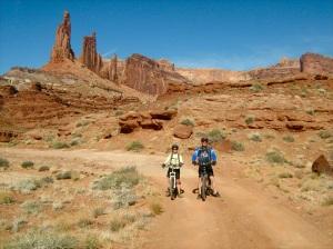 Enjoying the scenery along Utah's White Rim Trail—Caroline Helbig