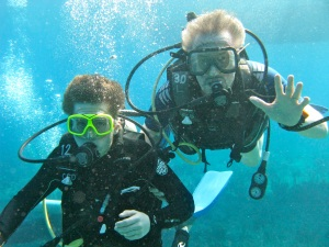 My diving buddies, Little Cayman—Caroline Helbig