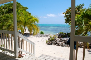 View from patio at Paradise Villas Little Cayman—Caroline Helbig