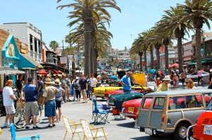 Antique car display at Hermosa Beach—C.Helbig