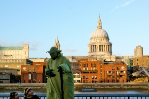 St.Paul's Cathedral from the south bank of the Thames. Including Yoda seemed like a good idea at the time—C.Helbig