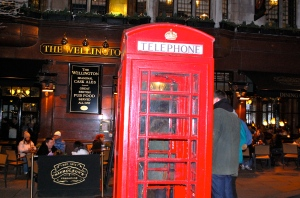 Iconic telephone booths and pubs—C.Helbig