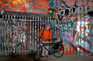 Leake St. grafitti tunnel with Tally Ho Cycle Tours—C.Helbig