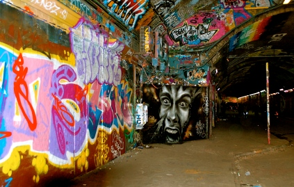 Street art in Leake Tunnel—C.Helbig