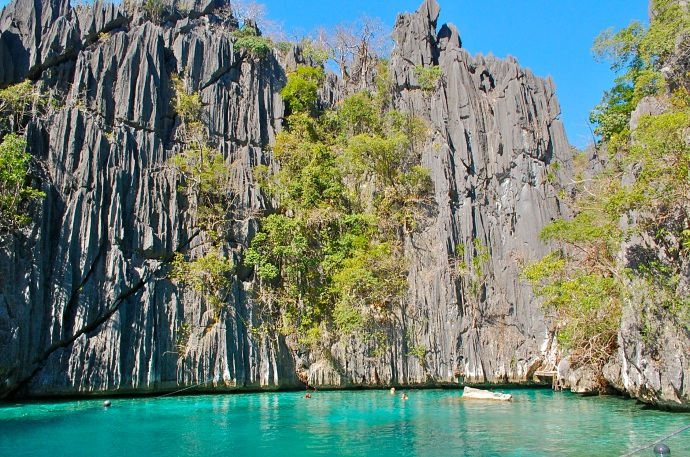 The first twin of the Twin Lagoons, Coron island-hopping—C. Helbig