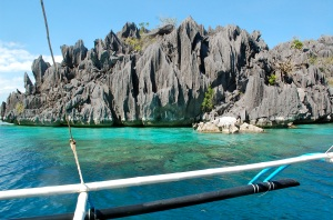 Approach to Twin Lagoons, Coron island-hopping tour—C. Helbig