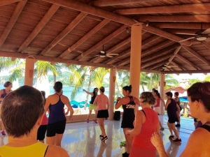 Zumba and Yoga Studio at Paty's on Playa La Ropa Beach