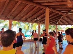 Zumba and Yoga Studio at Paty's on Playa La Ropa Beach