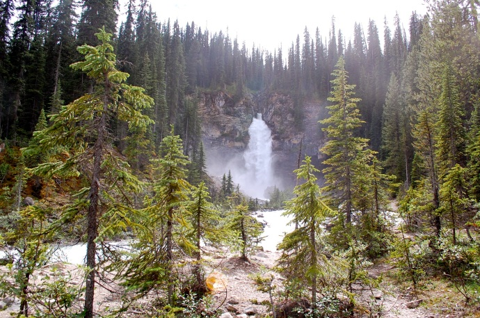 Laughing Falls, Yoho National Park, British Columbia. C. Helbig