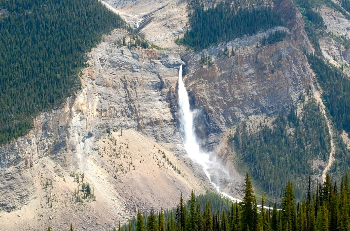 Takakkaw Falls from the Iceline Trail. Yoho National Park, British Columbia. C. Helbig