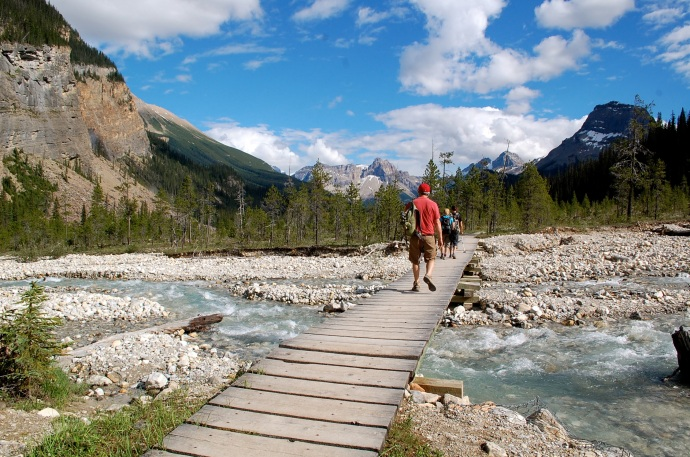 Laughing Falls Trail, toward Takakkaw Falls, Yoho National Park, British Columbia. C. Helbig