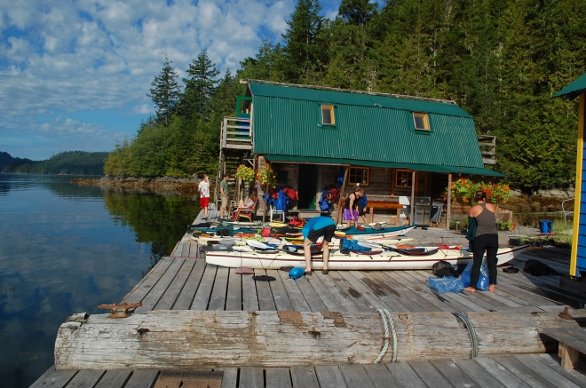 Getting ready to depart from Paddler's Inn, Broughton Archipelago—C.Helbig