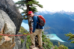 Not as scary as it looks on Whistler's High Note Trail—C.Helbig