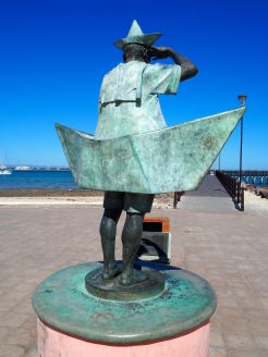 Old Man and the Sea sculpture, La Paz, Mexico