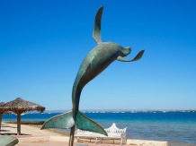 Breaching whale sculpture, La Paz, Mexico