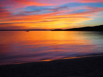 Sunset at Playa Pichilingue, Baja California Sur