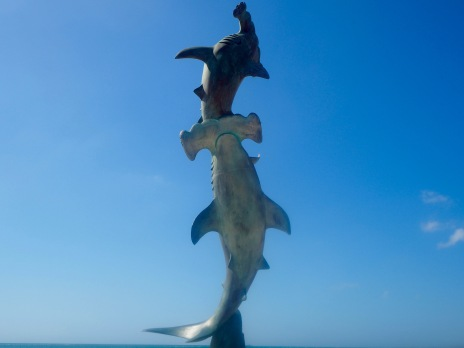 Hammerhead shark sculpture, La Paz, Mexico