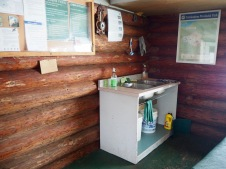 Clean-up facilities at cabin