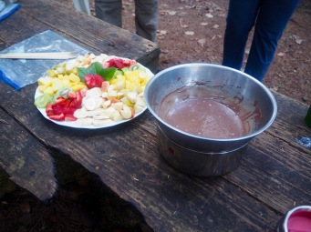 Chocolate fondue was a big hit—C.Helbig