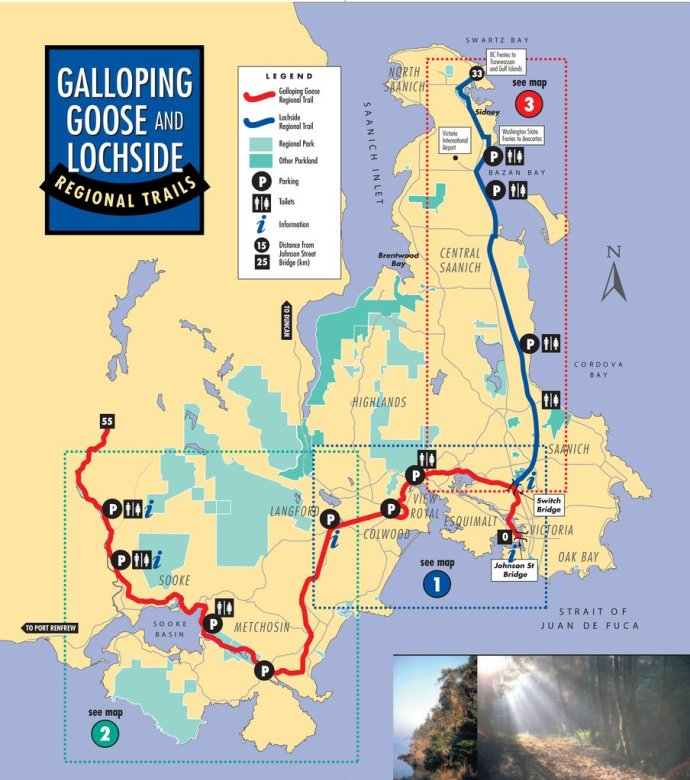 map-of-galloping-goose-and-lochside-trail