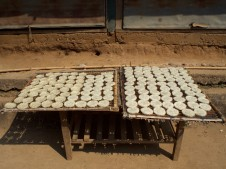 Rice cakes drying in the sun—C.Helbig