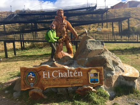 El Chalten monument to mountaineers