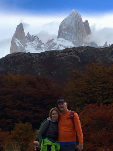 Mike and me on the Laguna de los Tres trail