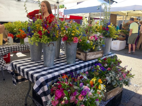 Saturday morning market at Friday Harbor