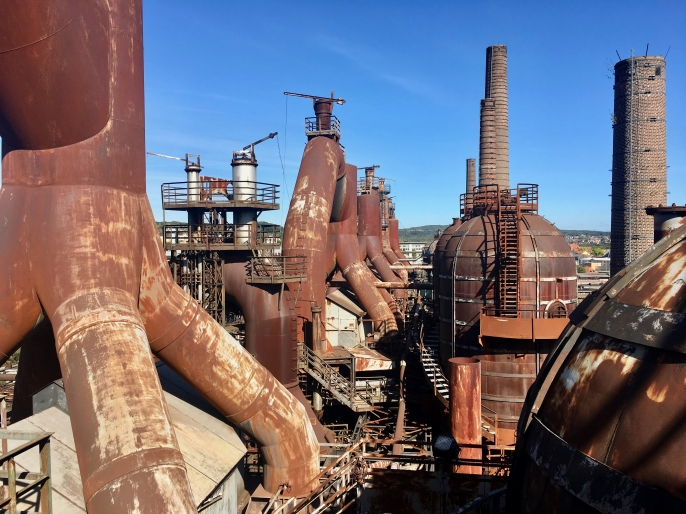 Exploring the inside and outside of the Völklingen Ironworks