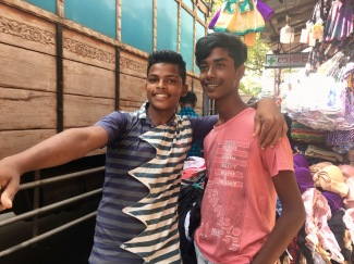 Friendly youths in Colombo