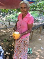 King coconut lady in Ella