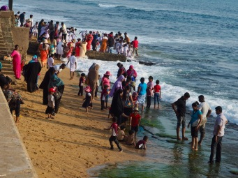 A happy crowd at Galle Face Green, Colombo